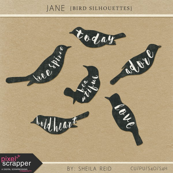 Jane - Bird Silhouettes Kit